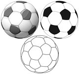 Soccer Ball Color Flat And Ink Pack