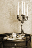 coffee and candlestick