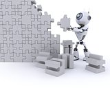 Robot with Jigsaw puzzle