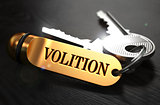 Volition Concept. Keys with Golden Keyring.