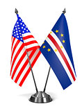 USA and Cape Verde - Miniature Flags.