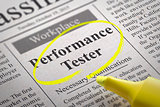 Performance Tester Jobs in Newspaper.