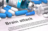 Brain Attack Diagnosis. Medical Concept. Composition of Medicame.
