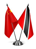 China, Trinidad and Tobago - Miniature Flags.