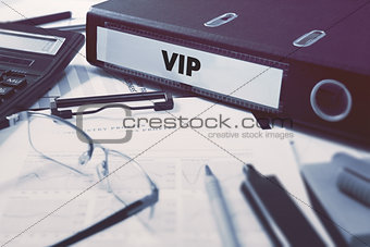 Ring Binder with inscription VIP.