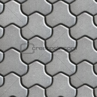 Gray Pavement of Combined Hexagons.