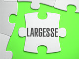 Largesse - Jigsaw Puzzle with Missing Pieces.