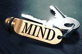 Mind written on Golden Keyring.