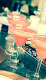 Strawberry margarita cocktails