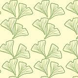 Ginkgo biloba pattern seamless