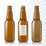 Empty glass bottles.