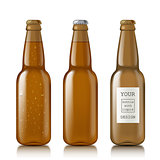 Templates realistic transparent bottles.