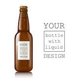 Template of glass beer bottles.