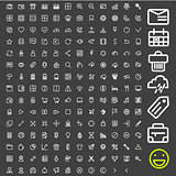 Line icons for applications and websites