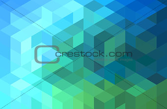 abstract blue green geometric background, vector