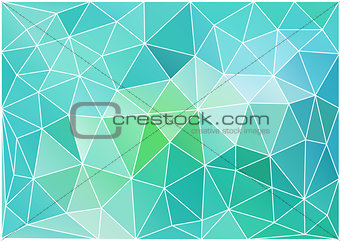 abstract teal low poly background, vector