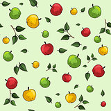 Apple seamless pattern