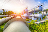 Glow light of petrochemical industry water tank