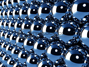 Abstract background with chrome balls