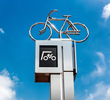 Bicycle parking sign. Eindhoven, Netherlands