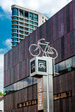 Bicycle parking sign in Eindhoven city center. Netherlands