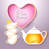 Cof tea and teapot