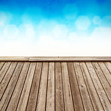 Empty Wooden Deck
