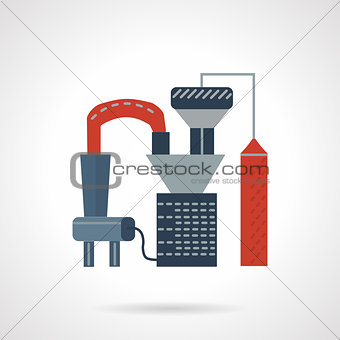 Oil processing flat vector icon