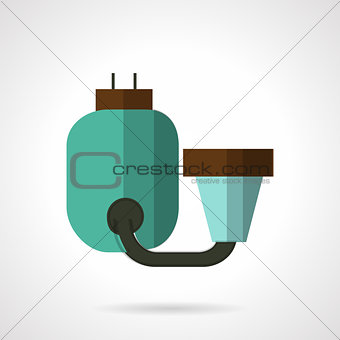 Flat color water filter icon