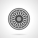 Bike wheel flat vector icon
