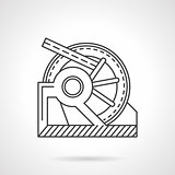 Winch mechanism line vector icon