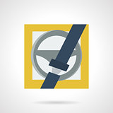 Driver protection flat vector icon