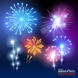 Vector Firework Collection