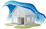 Brick house washes flood