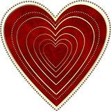 Red grunge heart