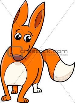 fox cartoon animal character