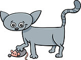 kitten with toy cartoon