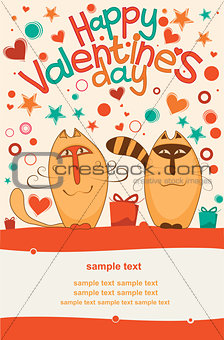Valentine day cats