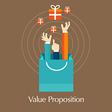 value proposition customer concept hands
