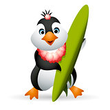 Penguin Surfer