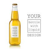 Realistic beer bottle.