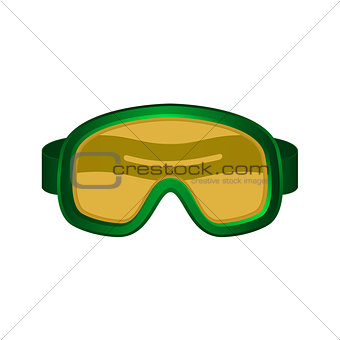 Ski sport goggles in dark green design