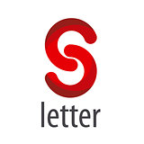 Abstract red vector logo letter S