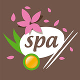 Abstract vector logo accessories for spa salon