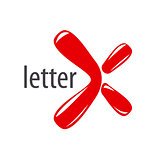 Abstract vector logo inflatable letter X