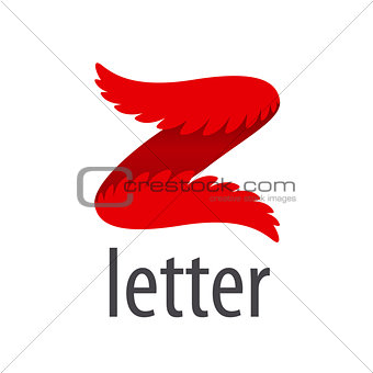Abstract vector logo letter Z in the form of wings
