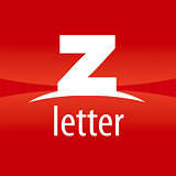 Abstract vector logo letter Z on a red background