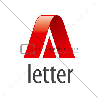 Abstract vector logo red letter A