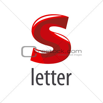 Abstract vector logo red letter S