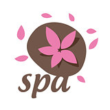 Abstract vector logo with a flower for spa salon